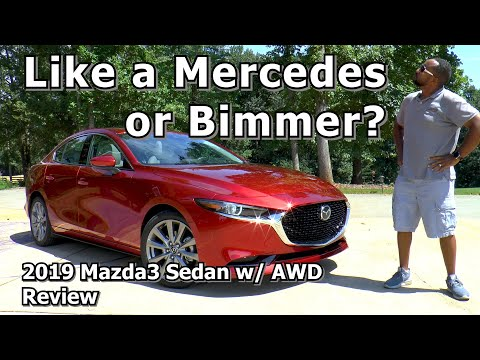 2019 Mazda3 Sedan Premium AWD Review - Like a Mercedes or Bimmer?
