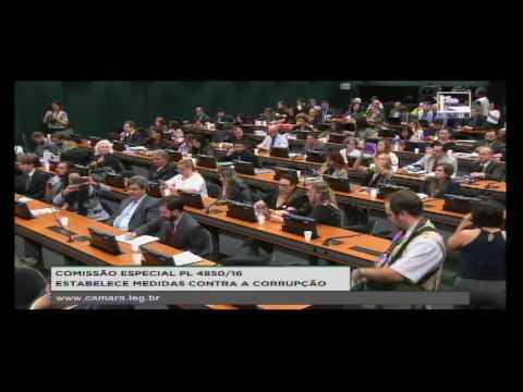 PL 4850/16 - ESTABELECE MEDIDAS CONTRA A CORRUPÇÃO - Reunião Deliberativa - 09/11/2016 - 16:27
