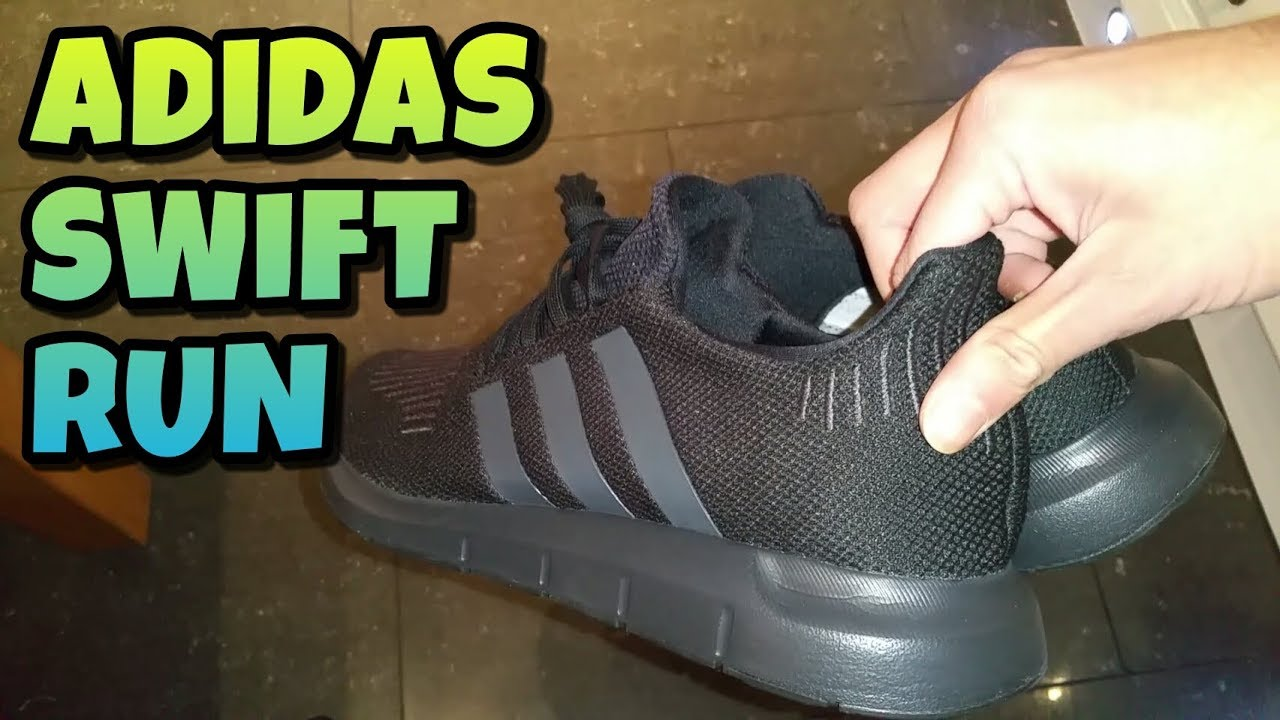 f85c8cdb915 Adidas Swift Run Black Unboxing And Review