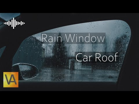 Heavy Rain and Wind Sounds from Inside Car Black Screen