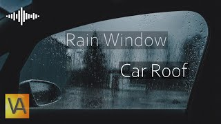 Heavy Rain and Wind Sounds from Inside Car (Black Screen)