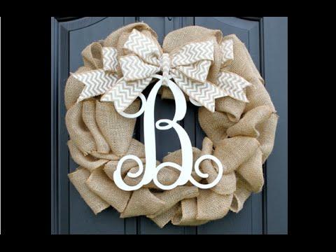 Pinterest Win Or Fail? Burlap Wreath   YouTube