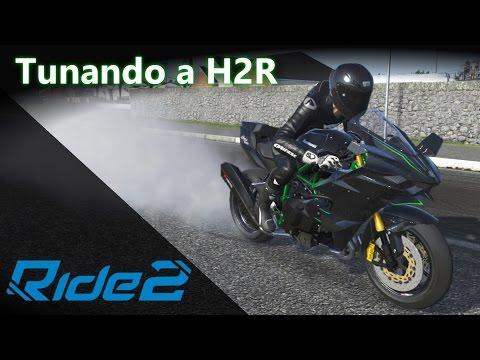 Tunando + Top Speed: Kawasaki H2R! Ficou ABSURDA! :O | RIDE 2 [PT-BR]