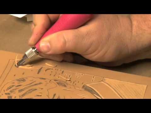Carving your speedball linoleum block presented by utrecht art
