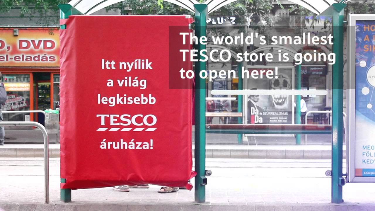 5503a7e92420 Tesco Outdoor Advert By Kirowski: The world's smallest Tesco | Ads of the  World™
