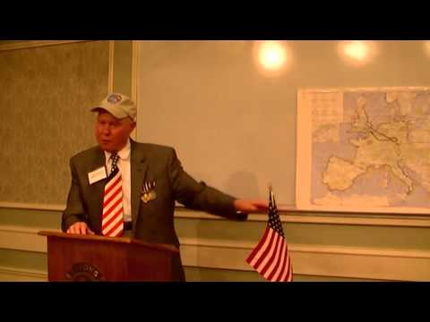 WWII Veteran Charles Hull speaks about Bombing Schweinfurt factory at Lions Club