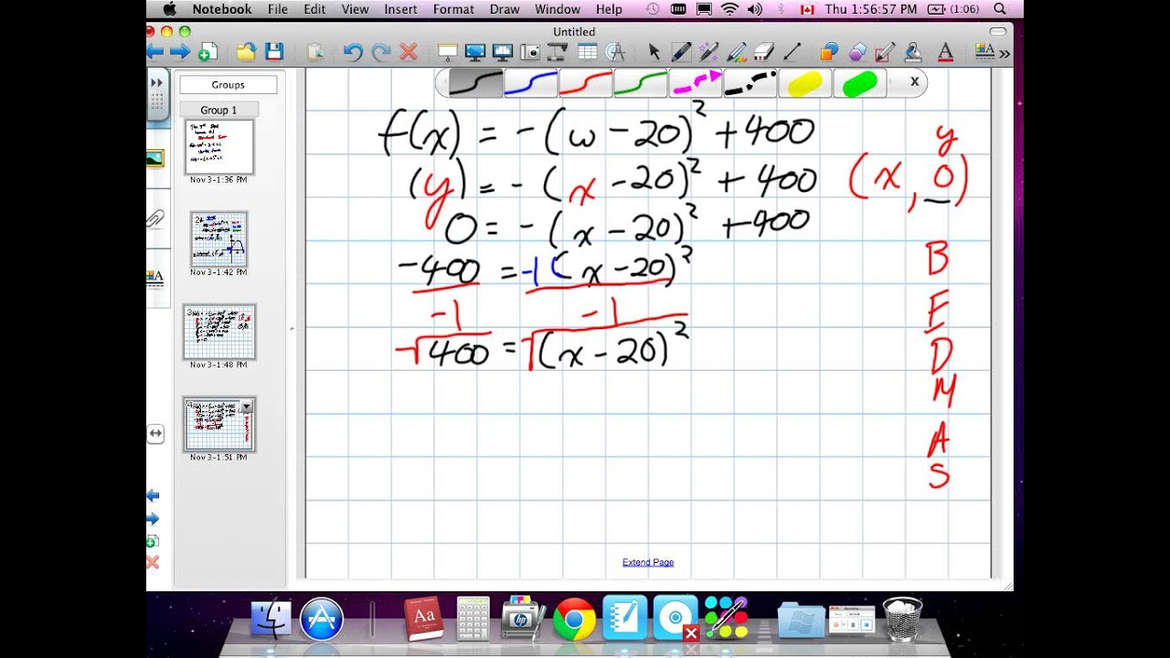 quadratics vertex form worksheet pdf