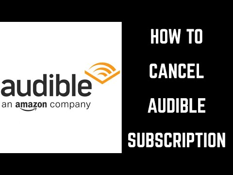 How to Cancel Audible Subscription - YouTube