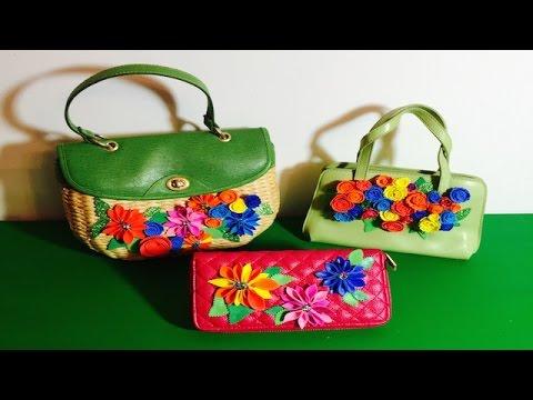 Como decorar carteras con flores de goma eva o foamy youtube - Flores sencillas de goma eva ...