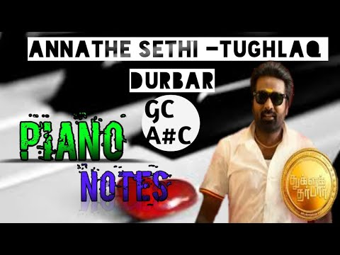 Annathe Sethi Tughlaq DurbarPiano NOTES Full Tutorial Easily Drug of musicNotes in description