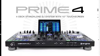 "Denon DJ Prime 4, 4-Deck Standalone DJ System with 10"" Touchscreen"