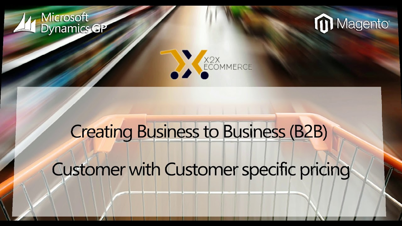 How to create B2B Customers with Customer Specific Pricing - eCommerce Software