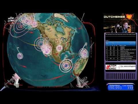 3/27/2017 -- Nightly Earthquake Update + Forecast -- Northwest USA slow slip event taking place