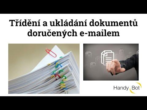 Třídění a ukládání dokumentů doručených e-mailem