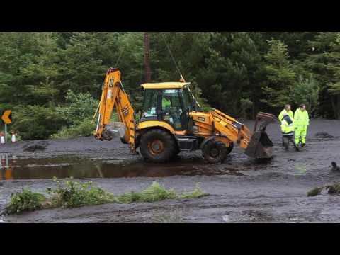 Mudslide on N59 Galway-Clifden road