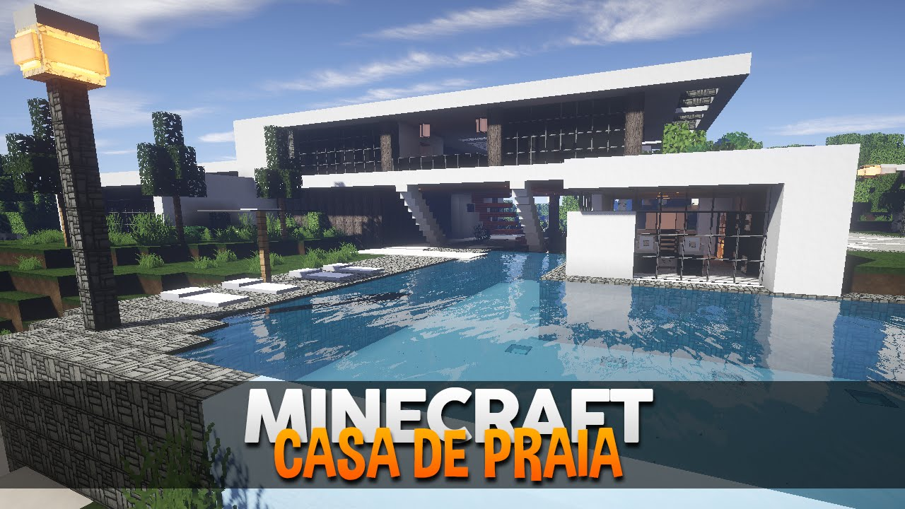Minecraft incr vel casa de praia moderna by makapuchii for Casas modernas minecraft 0 10 0