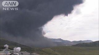 大きな噴石が飛散・・・阿蘇山が噴火 警戒レベルを3に(15/09/14)