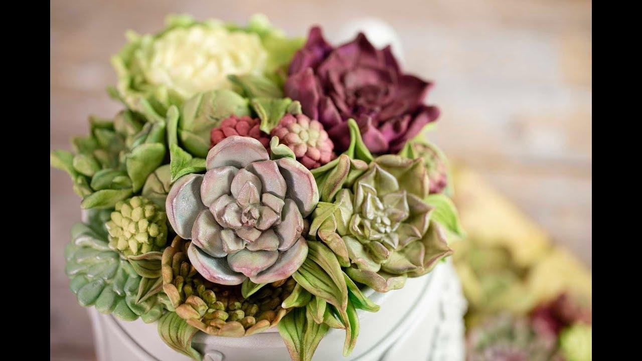 Karen Davies Sugarcraft Cake Decorating Moulds Molds Succulents