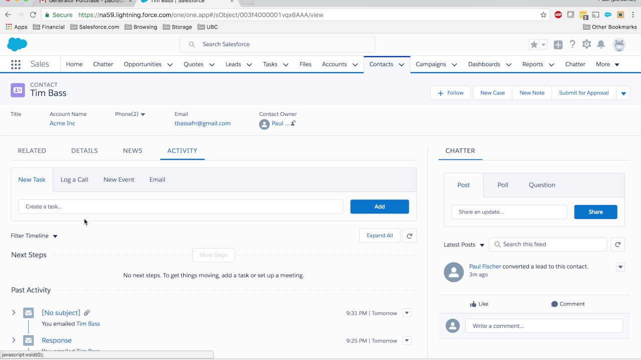 Salesforce Summer '17: Lightning for Gmail Demo and Use Case - Part 2