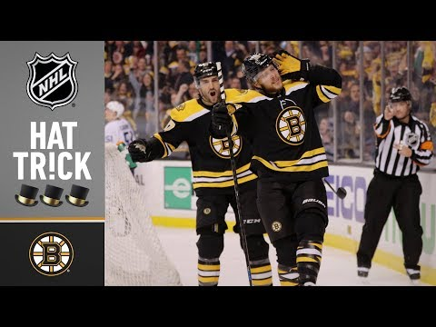 David Pastrnak earns hat trick as part of monster night
