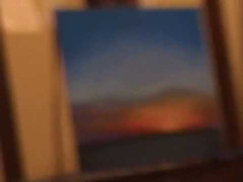 """Painting with Pastels demonstration. """"First Dawn #3"""""""