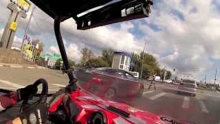 Polaris RZR 900 XP, езда по городу. Нижний Новгород  UTV in the city
