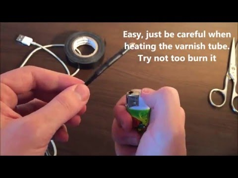 Fix the iPhone cable with Varnish Tube