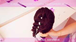 Видео урок №1. Плетения 4-х рядной косы с лентой.