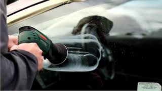 how to remove windshield scratches by using ZJPEC cerium oxide polishing powder