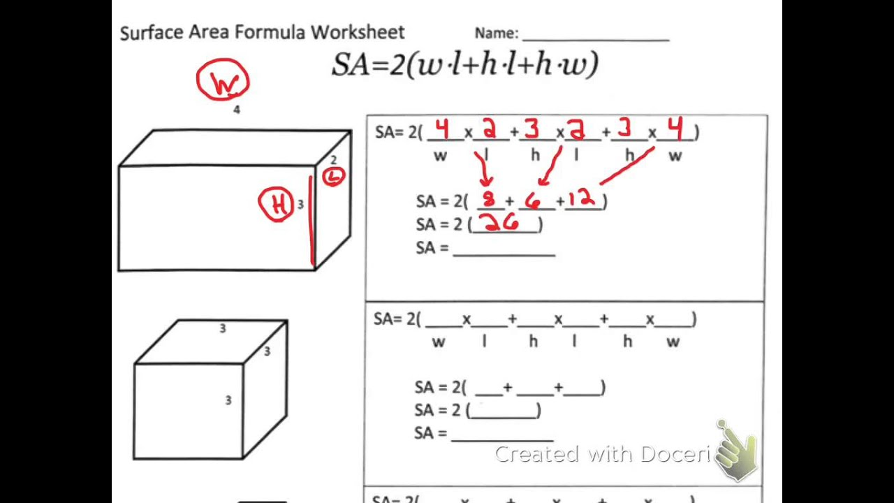 Surface Area Of A Box Formula