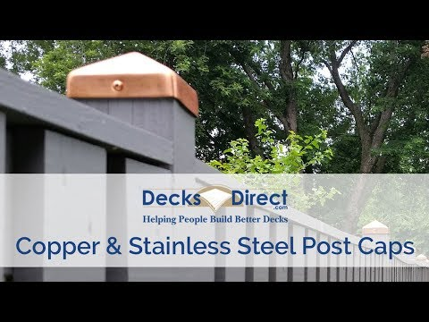 Copper and Stainless Steel Post Caps
