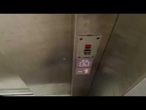 Foor nice old traction Schindler elevators Migros Supermarket @ Monthey, Switzerland