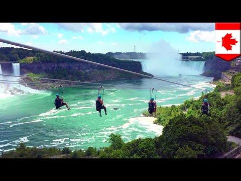 Niagara Falls Zipline On Canadian Side Is Latest Adrenaline-pumping Attraction - TomoNews