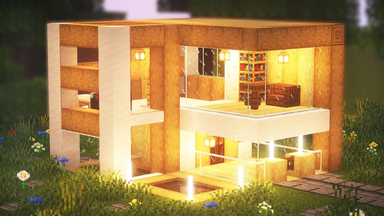 Comment Faire Une Petite Maison Moderne Dans Minecraft Youtube