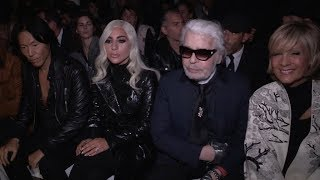 Lady Gaga, Christian Carino, Karl Lagerfeld and more at Celine Fashion Show in Paris