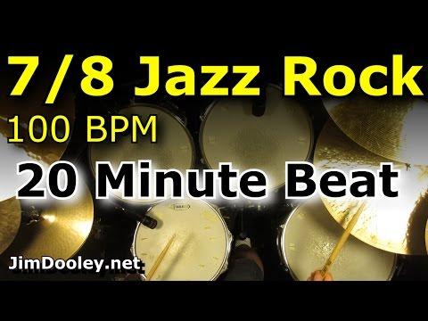 Drums Only Backing Track - 7/8 Jazz Rock 100 BPM Drum loop Excerpt