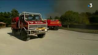 À Bédenac : 150 pompiers mobilisés sur un important feu de forêt