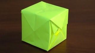 оригами куб. Как сделать кубик из бумаги Оригами своими руками легко