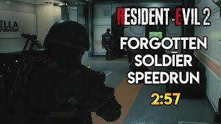 Resident Evil 2 Remake - Forgotten Soldier DLC Speedrun - 2:57