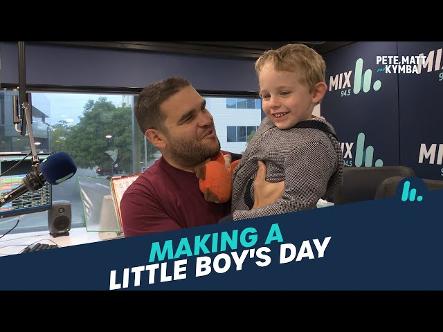 Making A Little Boy's Day | Pete, Matt and Kymba | Mix94.5