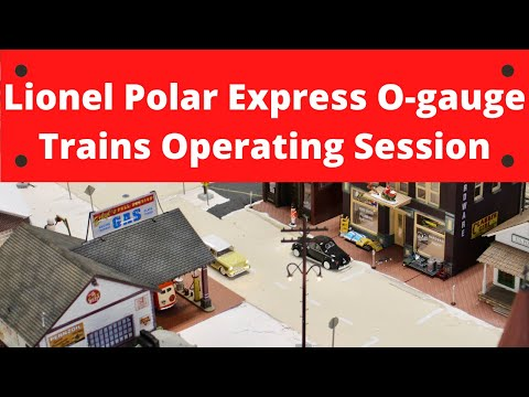 Lionel Polar Express Trains & Accessories O-gauge Operating Session