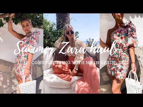 HUGE ZARA SUMMER SHOPPING HAUL | COME SHOPPING WITH ME IN SPAIN