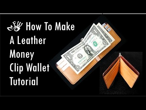 How To Make A Leather Money Clip Wallet by Fischer Workshops (HD) 2017