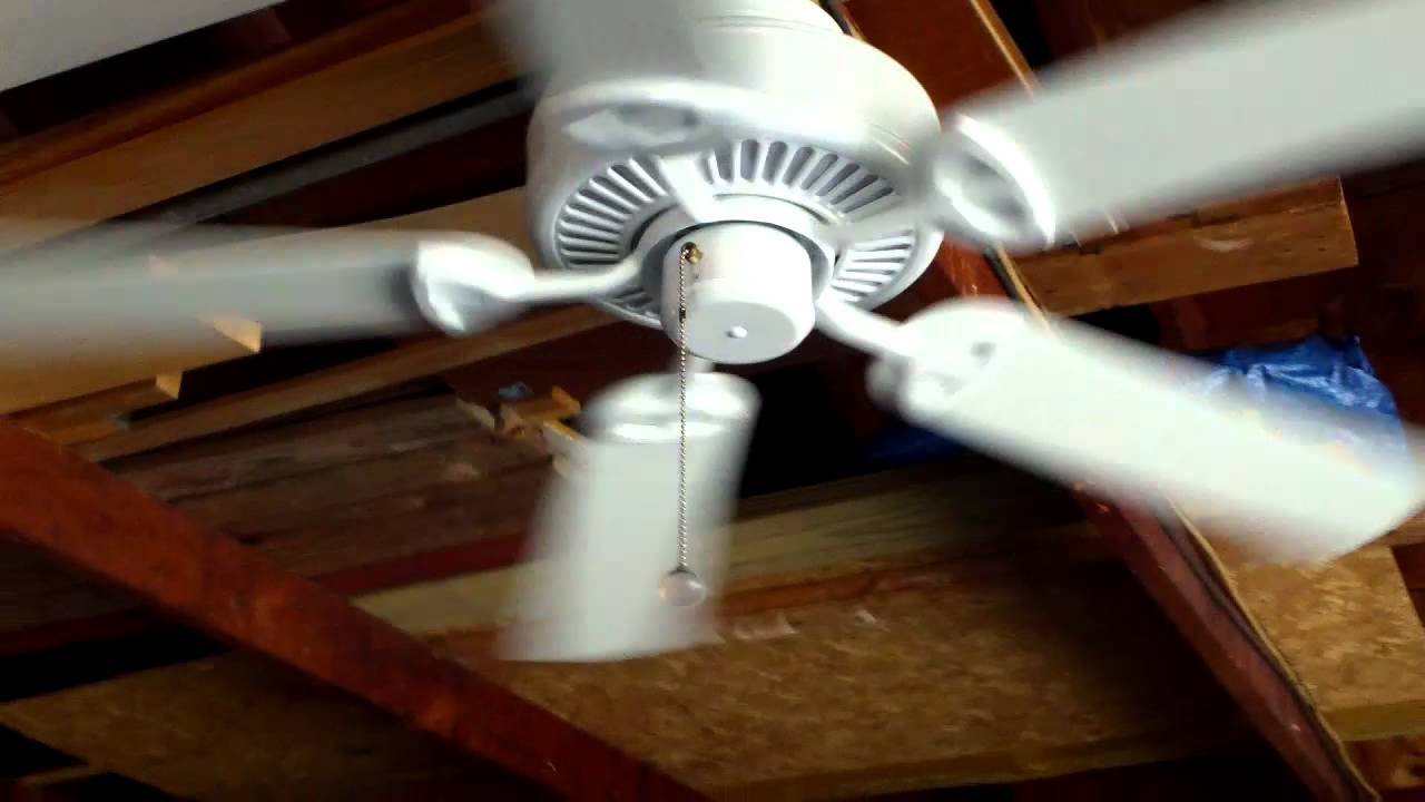 "52"" Hampton Bay Farmington Ceiling Fan White Finish"