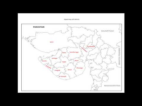 study video 1 gujarat map with districts