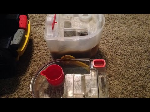 Bissell Pro Heat Cleaner Water Tank Dump Amp Fill Youtube