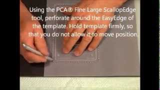 Parchment Craft - PCA Scalloped Rectangle Frame Tutorial