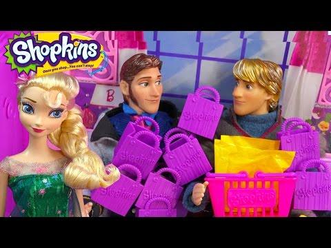 Queen Elsa Shopkins Challenge Season 2 Unboxing Kristoff Prince Hans Disney Frozen Fever Doll Video