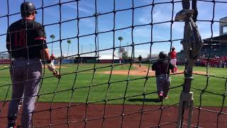 Shohei Ohtani serves up a home run to Dustin Martin, who has a nice bat flip