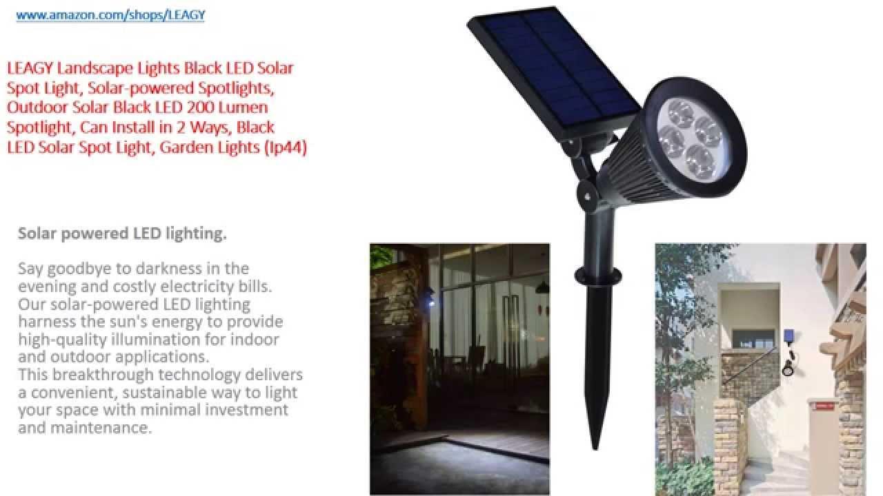 Leagy Landscape Lights Black Led Solar Spot Light Ed Spotlights